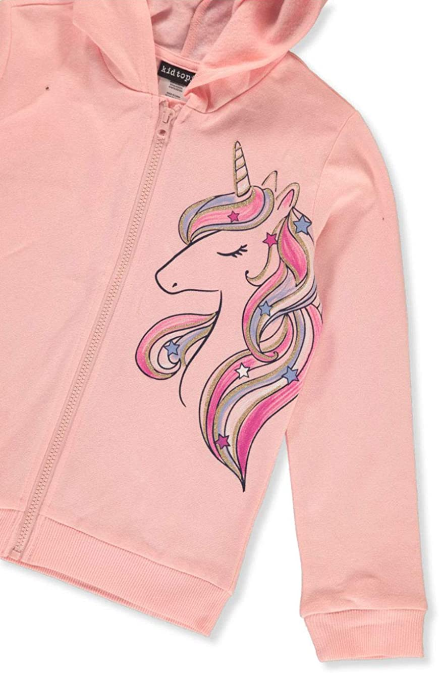 Kidtopia Girls Unicorn Zip Hoodie