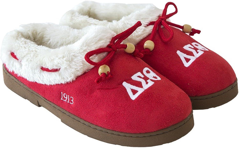 Delta Sigma Theta Sgoldrity Cozy Slipper Various Sizes Red, White