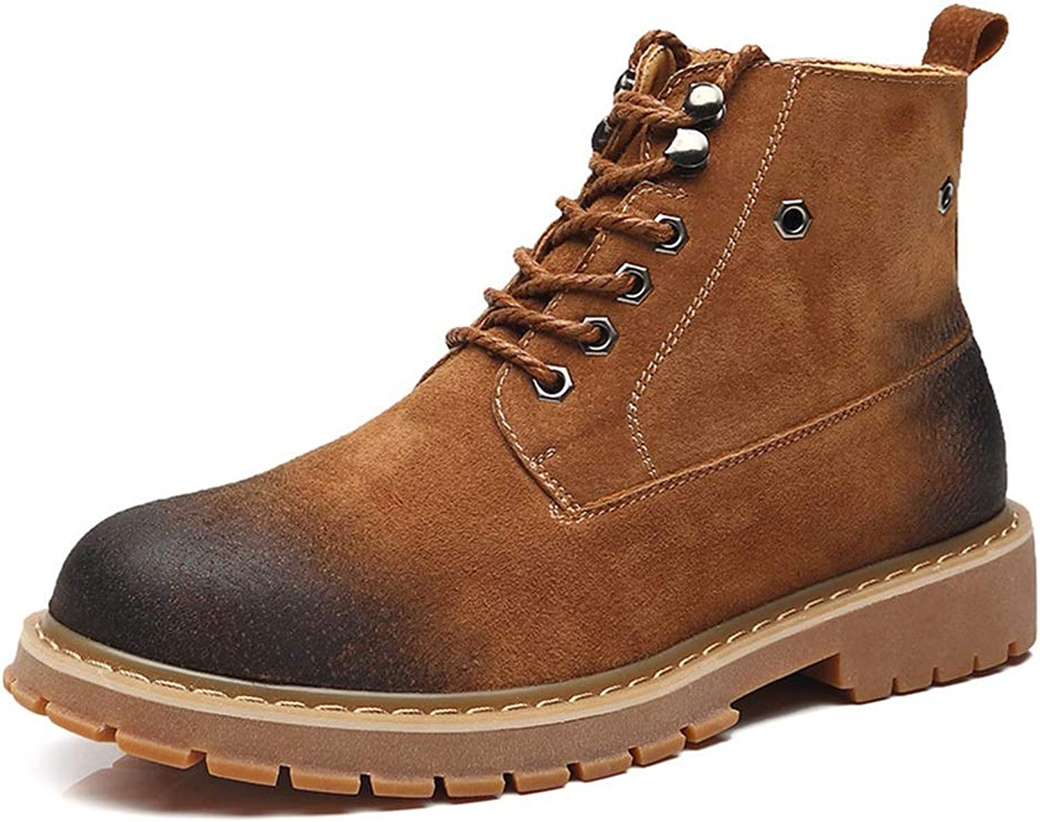 Mens Casual Lace up Chukka Boots Soft Sole Durable Non Slip Comfort Boots (color   Brown, Size   CA 9)