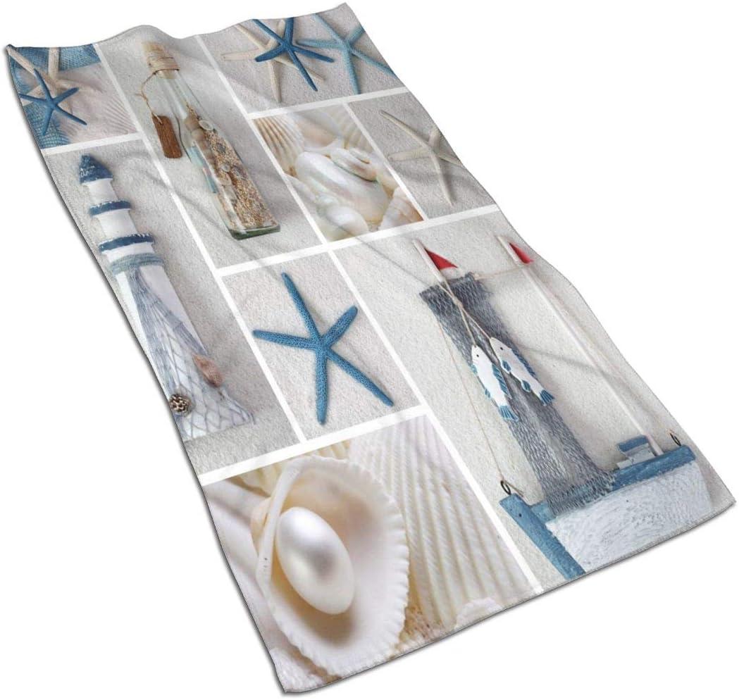 Marine Sail Boat Yoga Towels Beach Sea Shell Towel mart Starfish Las Vegas Mall Hand