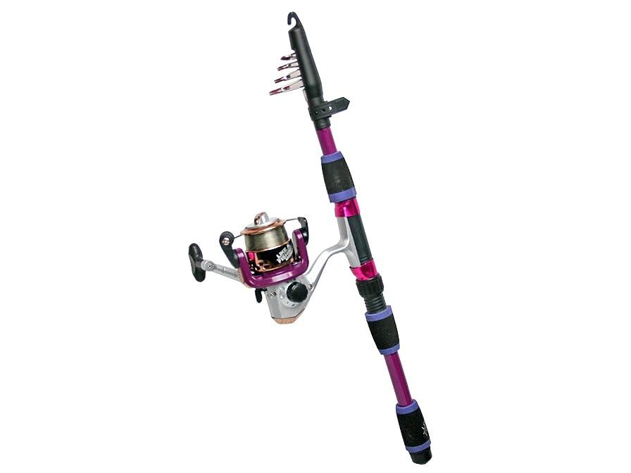 アジテーション優しいサンプルロッド カラフルコンパクト165 リール+ロッドセット FIVE STAR 釣り具 (パープル)