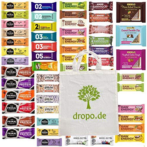 Probierpaket 24 Vegane Energie- und Snackriegel mit Stofftasche