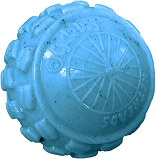 Cycle Dog High Roller Ball Dog Toy, Ecolast Post Consumer Recycled Material, Large, Blue