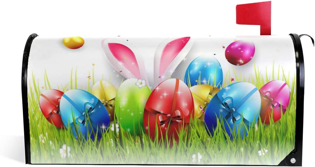 WOOR Easter Colorful Eggs and Mailbox Brand Cheap Sale Venue MailW Award-winning store Magnetic Bunny Cover