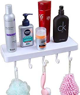 Ppy778 Suction Cup Bathroom Shelf Wall Mount Suction Wall Storage Free Punching Partition Bracket