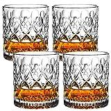 Whiskybecher set,Transparent aus Bleikristall,Schwere Scotch Verkostungsglas auf dem Markt,Elegante ergonomische Old Fashioned Nosing Tumblers ,Perfekt für zu Hause, Restaurants -4 teiliges Set