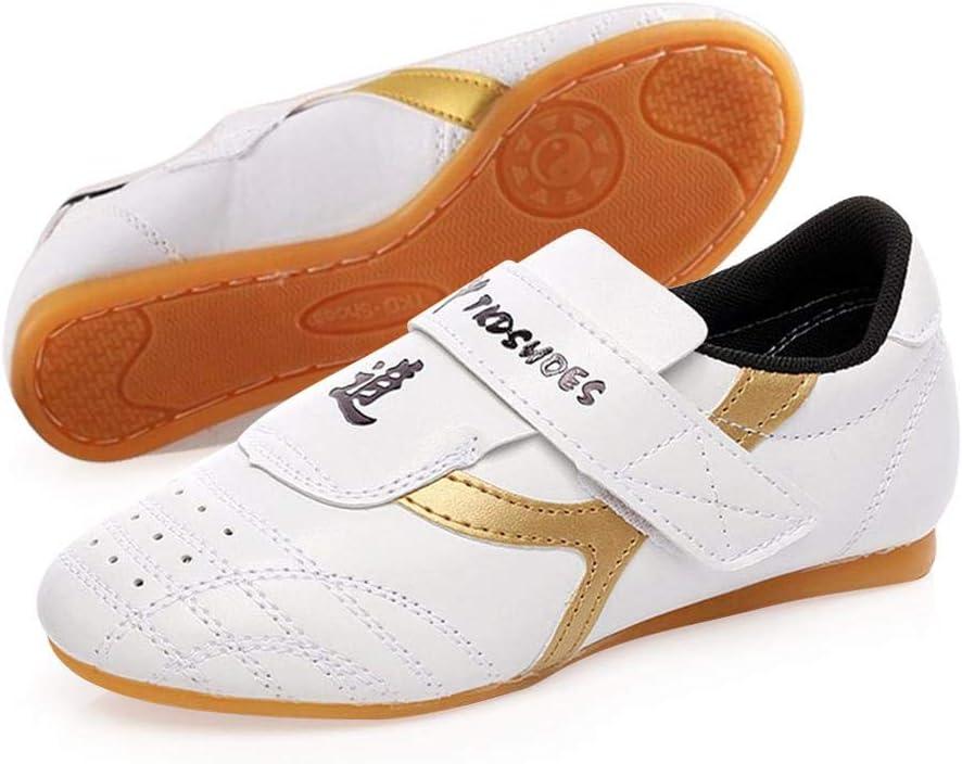 Volwco Unisex Transpirable Taekwondo Zapatos, Clásico Clásico PU Artes Marciales Zapatillas con una Bolsa Ecológica para Taekwondo, Boxeo, Karate, Kung Fu y Taichi, Tamaños Completos, 40