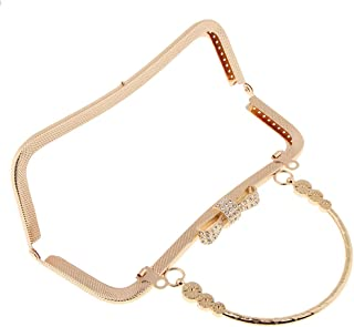 D DOLITY Vintage Arch Purse Frame Kiss Clasp Lock Crystal Bag Clutch Handle DIY Craft