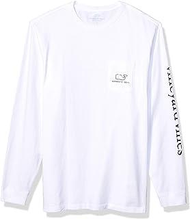 vineyard vines Men's Long Sleeve Vintage Whale Pocket T-Shirt