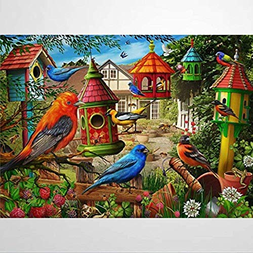 Jigsaw Puzzles for Adults 1000 Piece - Bird House Garden - Kids Puzzles Toys Educational Puzzles Jigsaw