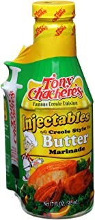 Tony Chachere Injectable Marinades with Injector, Creole Style Butter, 3 Count