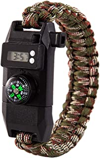 AKDSteel Military Outdoor Camping Survival Bracelet Tactical Watch Compass Rescue Rope Equipment Tools 6#