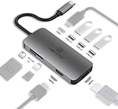 HEYMIX USB C Adapter Type c hub, Dual HMDI Port, PD Charging, USB 3.0 Ports, Micro Sd/SD Card Reader, MST Available New Ma...