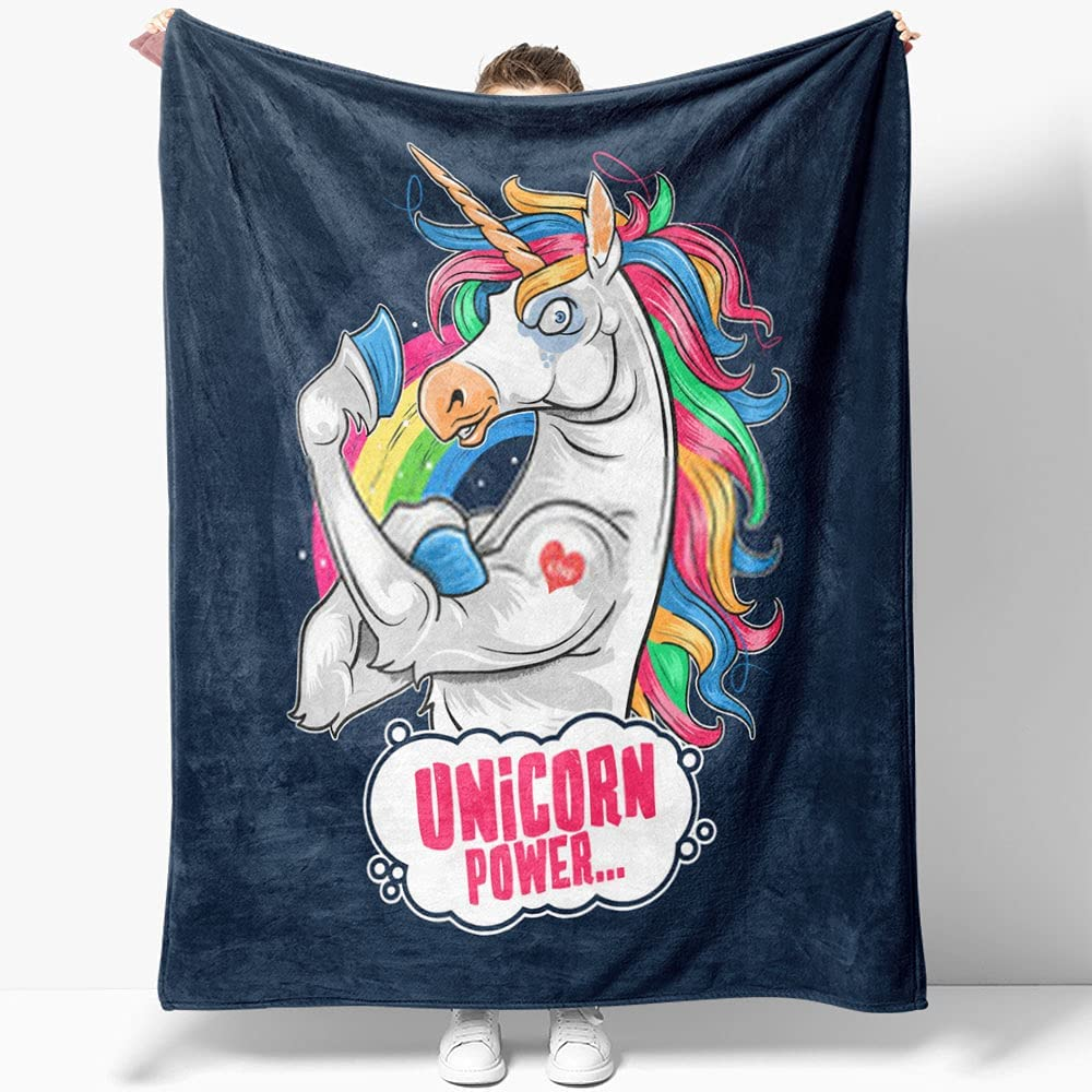 GANTEE Unicorn Cute and Limited time cheap sale Funny Cozy Super Muscle Cartoon Max 57% OFF Soft