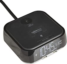 Brandstand | CubieDuo | User Friendly & Convenient Alarm Clock Charger | Qi Wireless Charger | 2 USB Ports