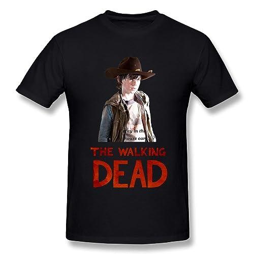 e30186221 Ryan Men's T Shirts The Walking Dead Carl Grime Black