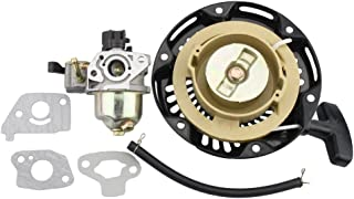 GOOFIT 19mm Carburetor with Pull Starter for 97cc 2.8hp Mini Baja Doodle Bug DB30 Dirt Bike