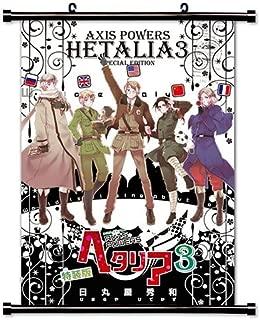 Hetalia Axis Powers Anime Fabric Wall Scroll Poster (16