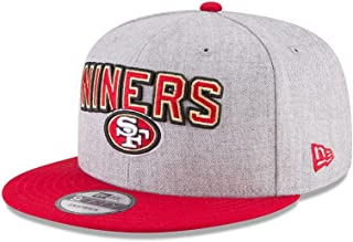 1b21e3c08a2382 New Era Authentic San Francisco 49ers Heather Gray/Red 2018 NFL Draft  Official On-