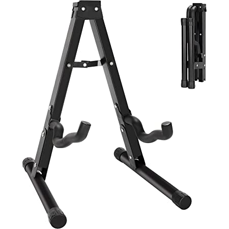 Guitar Stand Guitar Folding A-Frame Stand Universal Stand Floor for Acoustic Guitar, Bass Guitar, Electric Guitar, Mandolin, Banjo, Ukelele and More