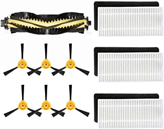 ANBOO for Ecovacs Deebot N79 N79S Robotic Vacuum Filter Side Brush Replacement Parts Rolling Brushes Filter 10pcs for Deeb...
