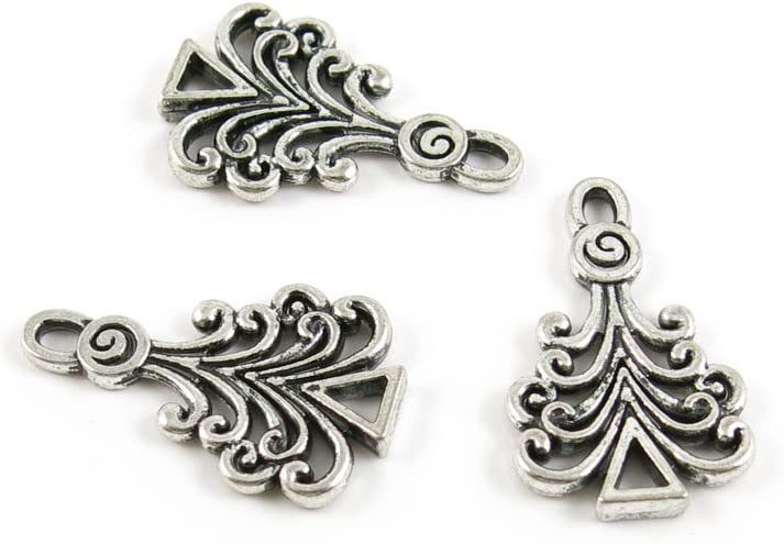 1010 Pieces 人気ブレゼント Antique Silver Tone Findings Charms Making Jewelry ※ラッピング ※ F