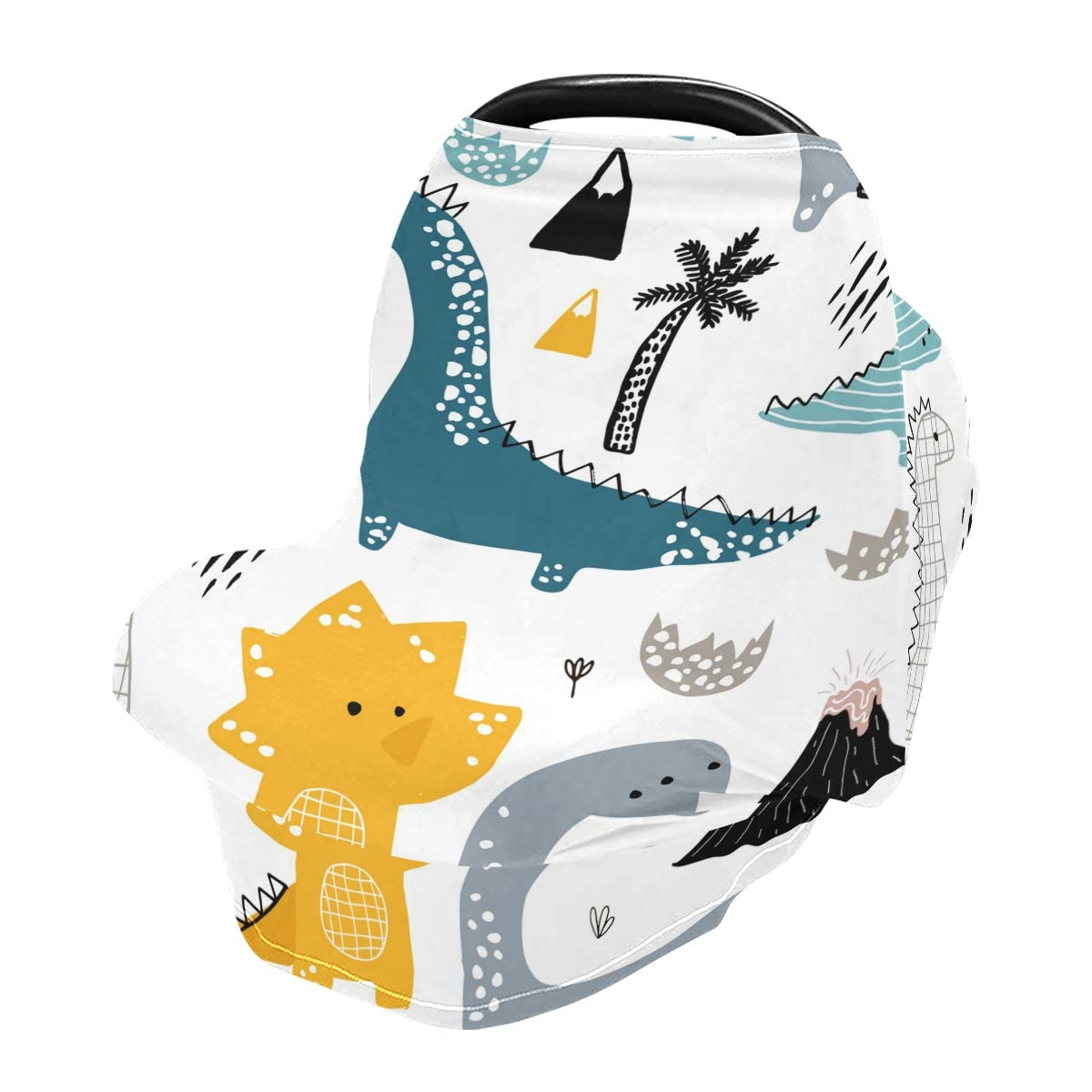Dinosaurs Baby Car Seat Cover Oakland Mall Breastfeeding Covers Dino Translated Nursing