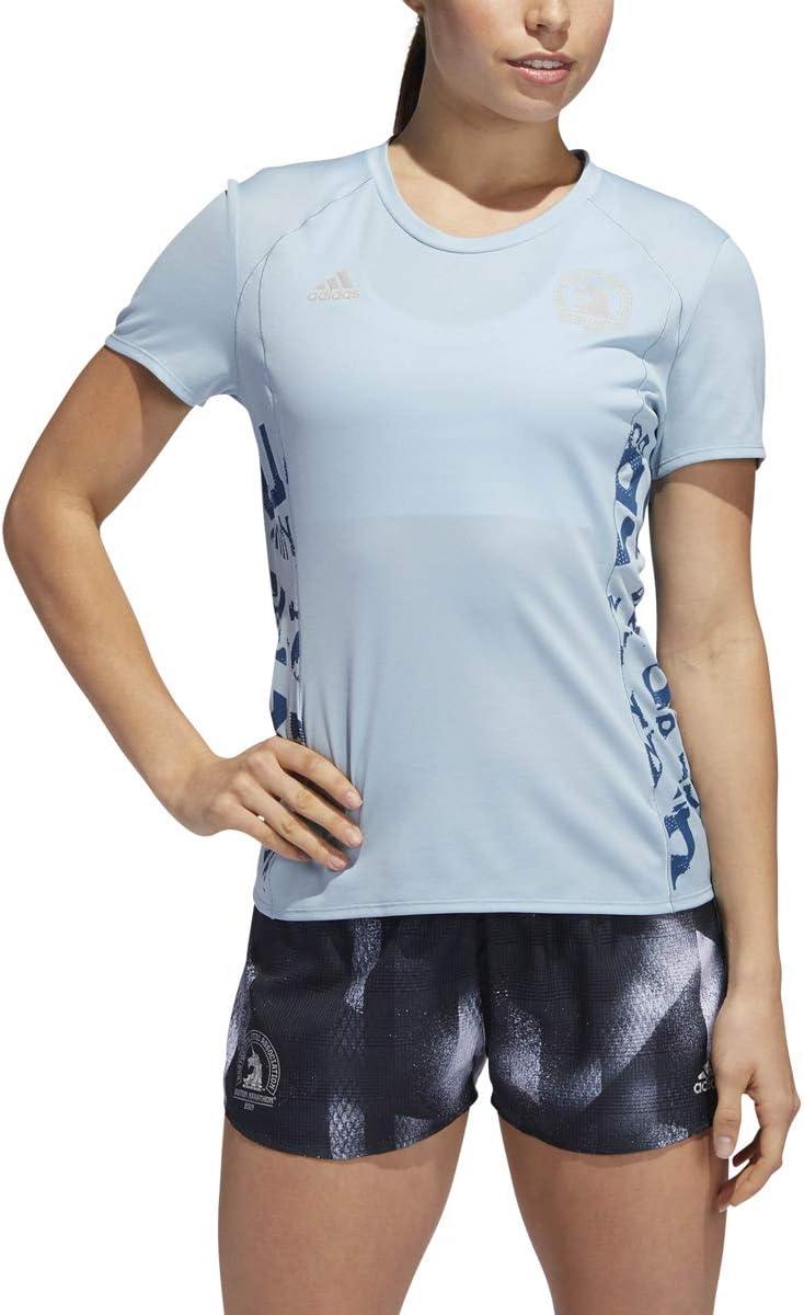 adidas Women's 2019 Boston Marathon Short Sleeve Finally popular brand Tee Supernova Challenge the lowest price of Japan ☆