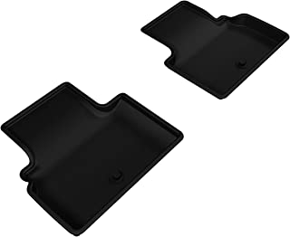 3D MAXpider - L1IN01721509 Second Row Custom Fit All-Weather Floor Mat for Select Infiniti Q50 Models - Kagu Rubber (Black)