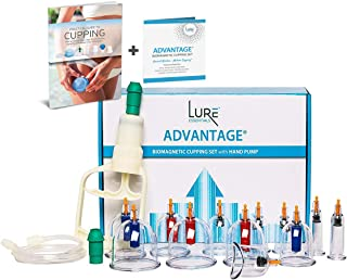 Kangzhu Chinese Cupping Therapy Acupuncture Set Professional with Vacuum Pump & Magnets and Free PDF English Cupping Guide/Book
