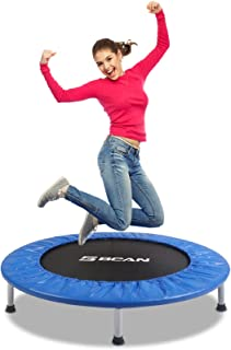 BCAN Mini Trampoline for Adults Exercise Rebounder Indoor Trampoline for Kids 38 Inch..