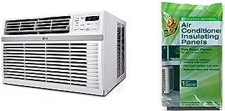 LG LW8016ER 8,000 BTU 115V Window-Mounted AIR Conditioner with Remote Control & TOP SHELF TSB-2438 Air Conditioner Bracket, White