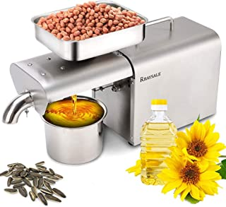 RBAYSALE 500W Oil Press Machine Home Automatic Oil Extractor Organic Oil Expeller for Avocado Coconut Castor Flax Peanut C...