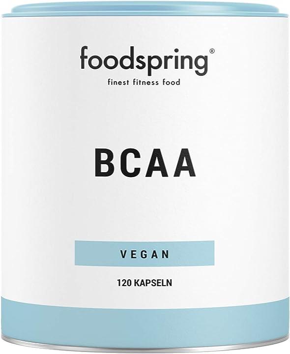 Bcaa capsule foodspring, 120 capsule, 2:1:1, aminoacidi essenziali per la muscolatura B01MZEAC6M