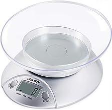 Etekcity Balance de Cuisine Electronique Multifonctionnelle 5 kg/1g, Bol Amovible, Grand Ecran Rétroéclairé LCD, Pesée du ...