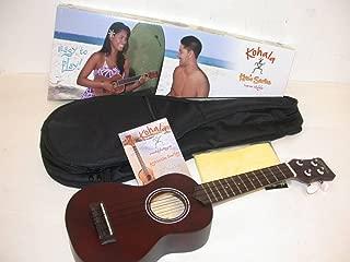 Kohala KO-S Kine'O Soprano Ukulele, Mahogany Body, Includes Matching Lanikai HSS611 Padded Gig Bag, Instruction Booklet & TMS Polishing Cloth