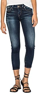 Silver Jeans Co. Women's Suki Curvy Fit Mid Rise Skinny Crop Jeans