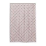 My Daily Duschvorhang, kariert, 121,9 x 182,9 cm, schimmelresistent & wasserdicht, Polyester, Dekoration für Badezimmer, Rot / Weiß