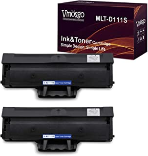 Vmosgo MLT-D111S Toner Cartridges Compatible for Samsung MLTD111S High Yield, 2 Black, Work with Samsung Xpress M2020W M2022W M2070FW M2070W Printer (~1000 Pages)