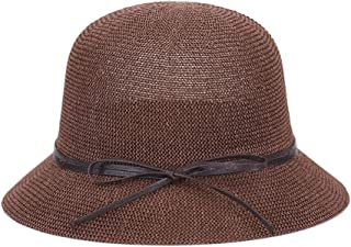 ZiWen Lu Hat Ladies Summer Sun hat Holiday Vacation Grass Outdoor Sun hat hat Wild Straw hat (Color : Brown, Size : M56-58cm)