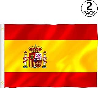 Bandera España Grande, Rymall 2pcs Bandera de España, Resistente a la Intemperie, 90 x 150 cm