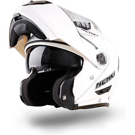 Nenki Klapphelm Integralhelm Motorradhelm Nk 860 Mit Sonnenblende Groß Weiß Auto