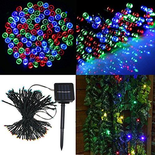 Solmore luci a energia solare 100LED string Light Pasqua 16,8m 17m impermeabile Ambiance illuminazione luci natalizie, luci solari per esterni giardini casa Natale festa di Natale decorazione Multi-color