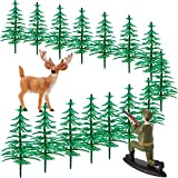 17 Pieces Deer Hunting Cake Topper Tree Cake...