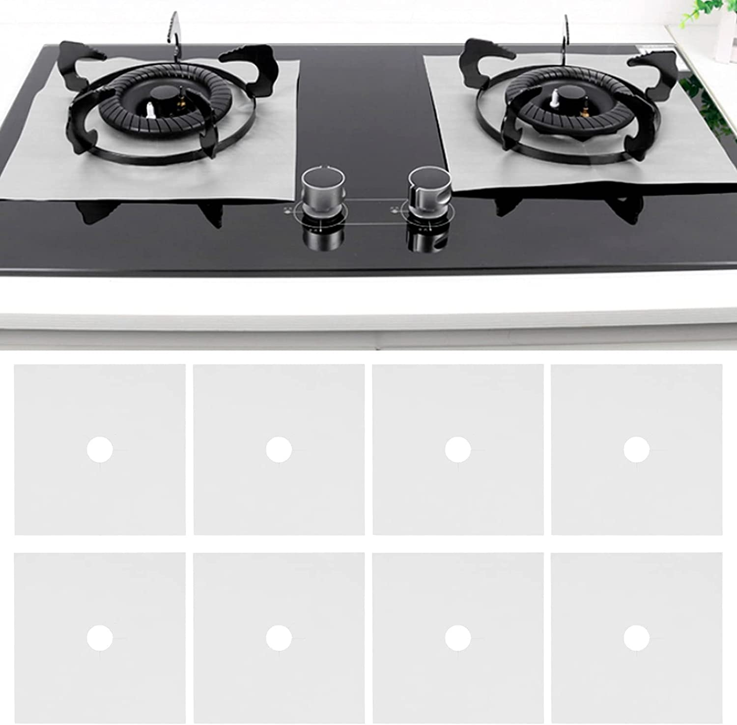 Gas Stove Pad Charlotte Mall 8PCS Stovetop Reusable Clean Max 89% OFF Cooker Protector