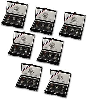 1992 1993 1994 1995 1996 1997 1998 Complete Collection of US Mint Premier Silver Proof Sets - 7 Sets DCAM Proof