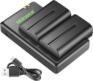 Neewer 2 Piezas 2600mAh Li-Ion batería de reemplazo para Sony NPF550/570/530 para Sony HandyCams Neewer CN-160 216 CN luz 74K Neewer 759 760 Feelworld 759 74K y más
