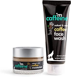 mCaffeine Daily Coffee Face Care Duo - Face Wash & Moisturizer with Hyaluronic Acid & Pro-Vitamin B5   For Oil-Free Hydrat...