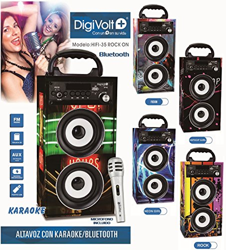 Altavoz recargable con radio USB/SD Bluetooth Karaoke Digivolt HIFI-35 Rock On