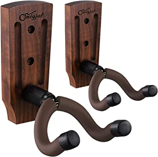 Guitar Wall Mount, Guitar Mount 2 Pack, Black Walnut Guitar Hanger with Screws, Guitar Hook Stand Accessories for Acoustic...